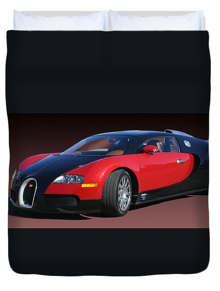 2010 Bugatti Veyron E. B. Sixteen Duvet Cover by Jack Pumphrey