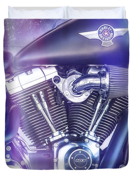 2012 Harley Davidson Fat Boy Duvet Cover