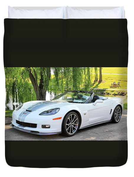 2013 60th Anniversary Special Corvette 427 Duvet Cover