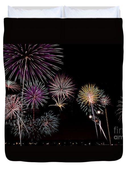 2013 Fireworks Over Alton Duvet Cover