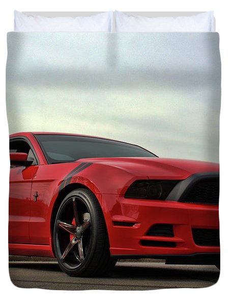 Duvet Cover featuring the photograph 2014 Mustang by Tim McCullough