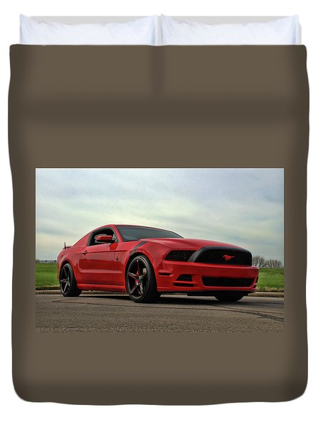 2014 Mustang Duvet Cover by Tim McCullough