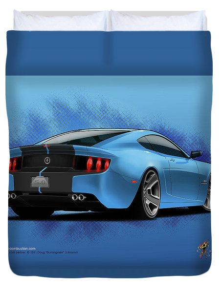 2014 Stang Rear Duvet Cover
