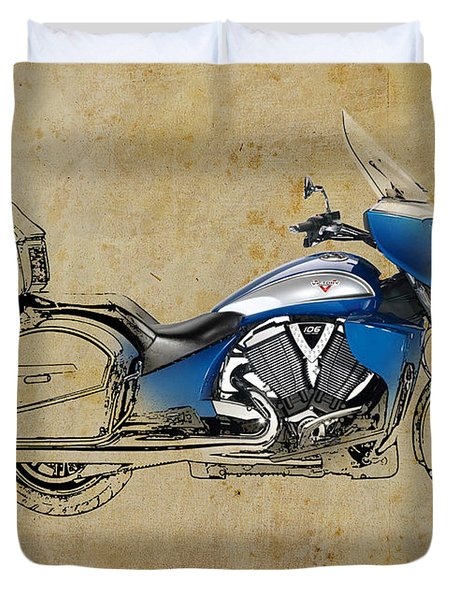 2014 Victory Cross Country Tour Duvet Cover