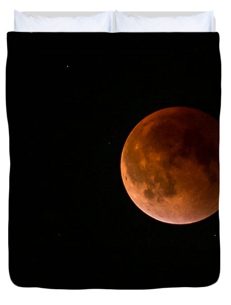 2015 Blood Harvest Supermoon Eclipse Duvet Cover