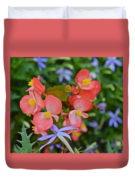 2015 Mid September At The Garden Begonias 2 Duvet Cover