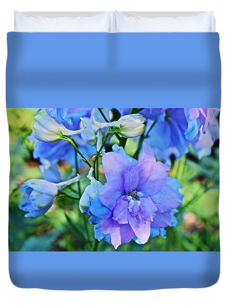 2015 Mid September At The Garden Larkspur 2 Duvet Cover