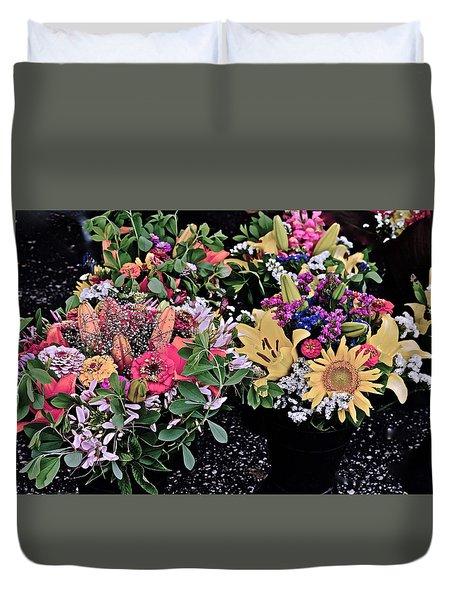 2015 Monona Farmers Market Flowers 1 Duvet Cover