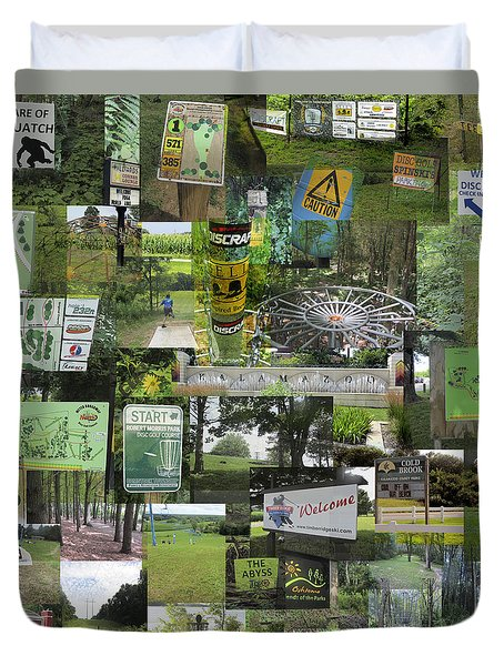 2015 Pdga Amateur Disc Golf World Championships Photo Collage Duvet Cover