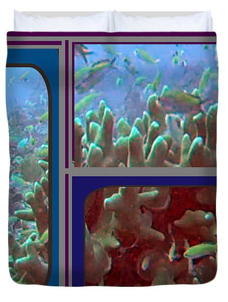 2015 Periscope Perspective Gallery Underwater Coral Reef Vegitation Photography In Landscape Format Duvet Cover