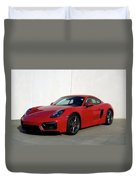 2015 Porsche Cayman Gts Duvet Cover by Tim McCullough