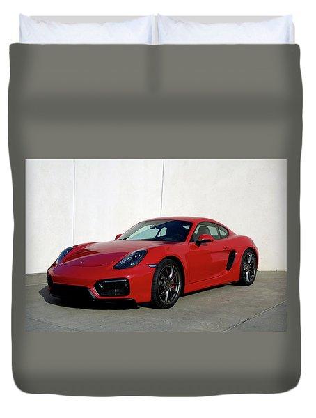 2015 Porsche Cayman Gts Duvet Cover