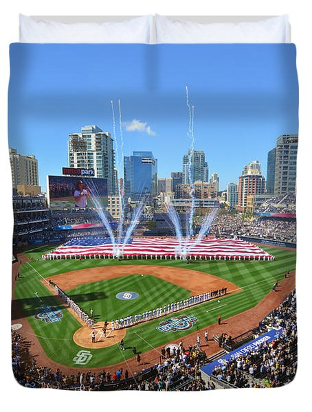 2015 San Diego Padres Home Opener Duvet Cover