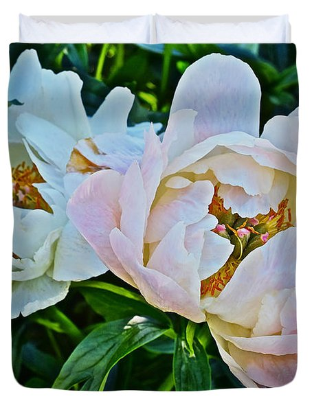 2015 Summer's Eve At The Garden White Peony Duo Duvet Cover