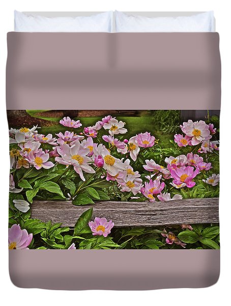 2015 Summer's Eve Front Yard Peonies 1 Duvet Cover