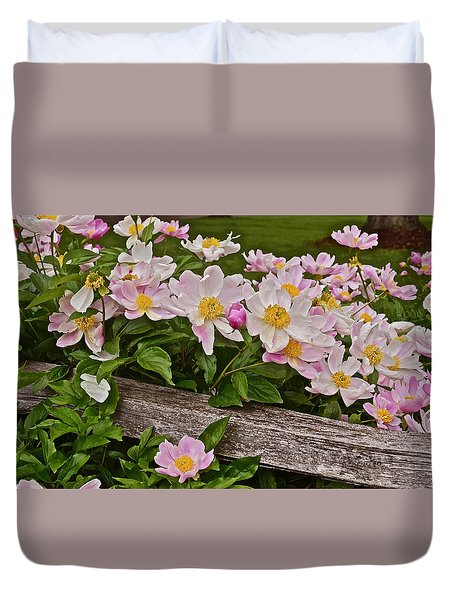 2015 Summer's Eve Neighborhood Garden Front Yard Peonies 3 Duvet Cover
