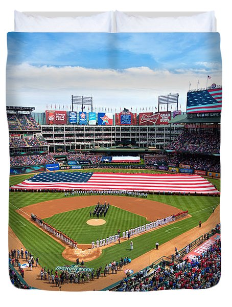 2015 Texas Rangers Home Opener Duvet Cover