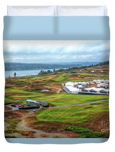 2015 Us Open Preparations  Duvet Cover by Chris Anderson