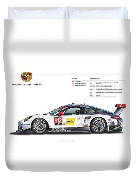 2016 911gt3r Rsr Poster Duvet Cover by Alain Jamar