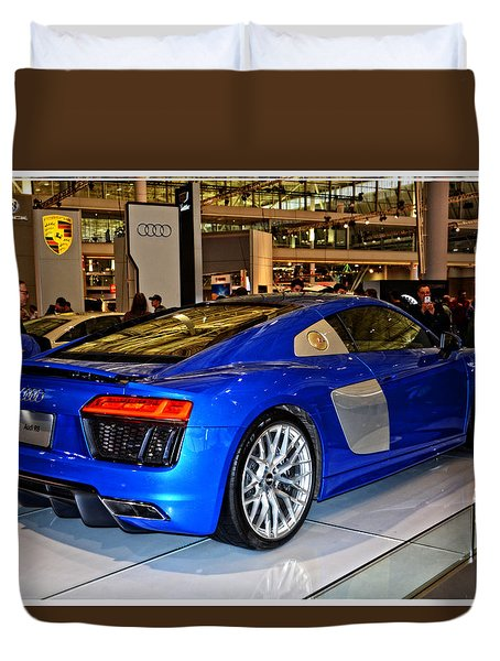 2016 Audi R8 Duvet Cover by Mike Martin