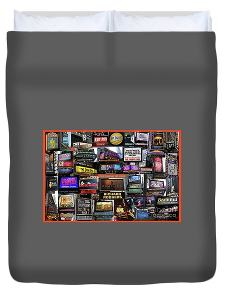 Duvet Cover featuring the photograph 2016 Broadway Fall Collage by Steven Spak