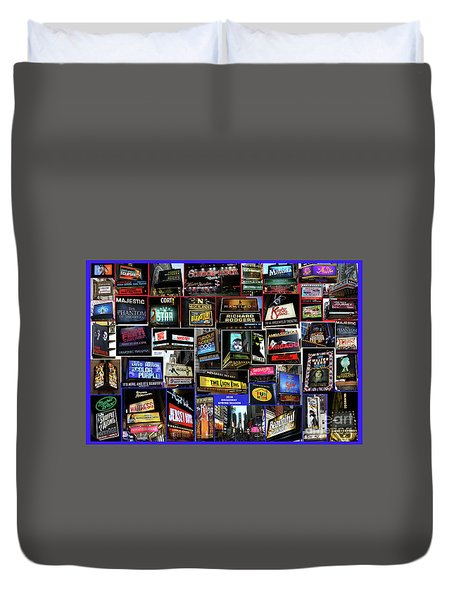 2016 Broadway Spring Collage Duvet Cover