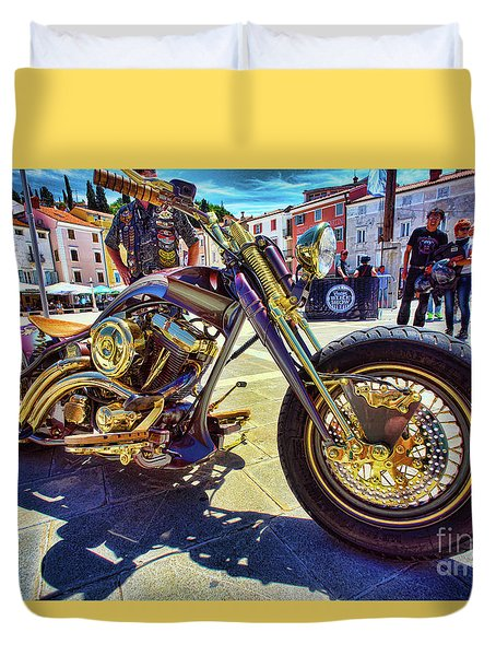 2016 Custom Harley Winner Duvet Cover