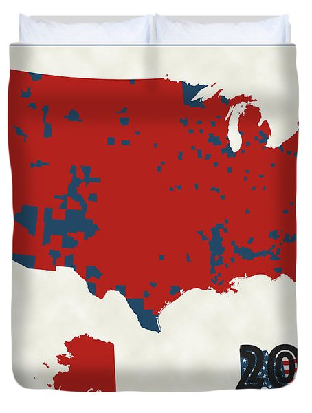 2016 Election Results Duvet Cover by Finlay McNevin