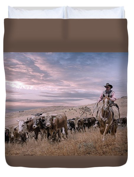 2016 Reno Cattle Drive Duvet Cover