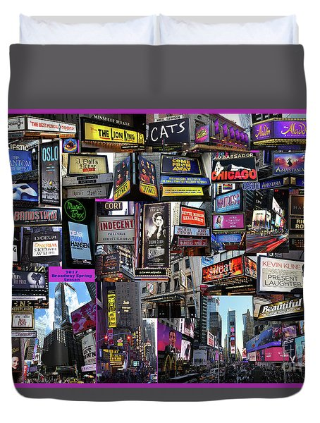 2017 Broadway Spring Collage Duvet Cover