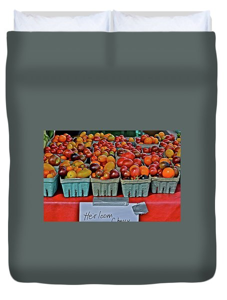 2017 Monona Farmers' Market August Heirloom Cherry Tomatoes Duvet Cover
