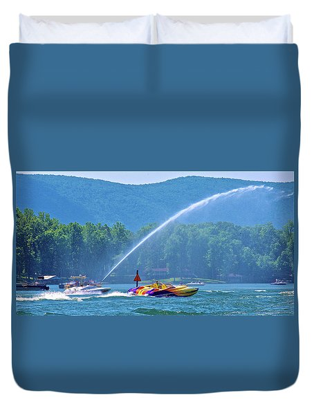 2017 Poker Run, Smith Mountain Lake, Virginia Duvet Cover