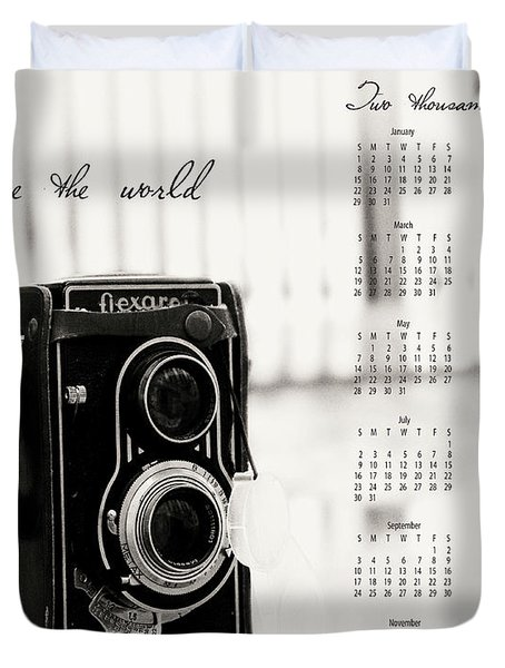 Duvet Cover featuring the photograph 2017 See The World Wall Calendar by Ivy Ho