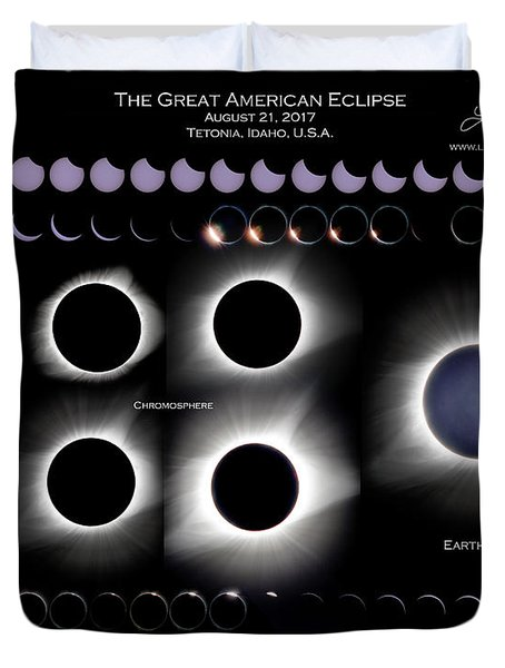 2017 Solar Eclipse Collage Duvet Cover