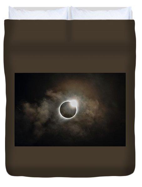 2017 Solar Eclipse Exit Ring Duvet Cover