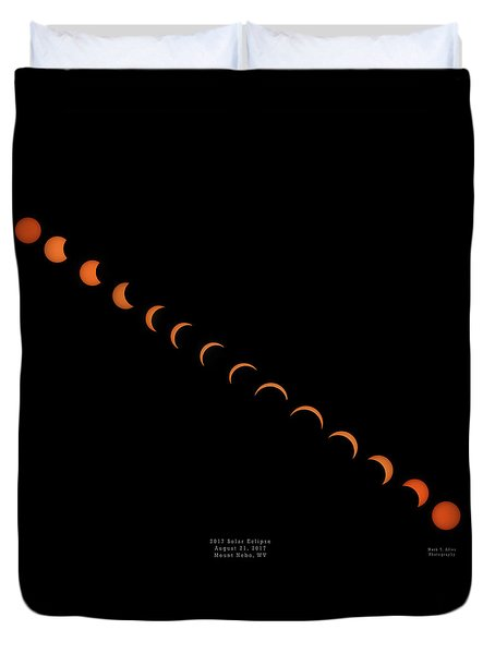 2017 Solar Eclipse Duvet Cover