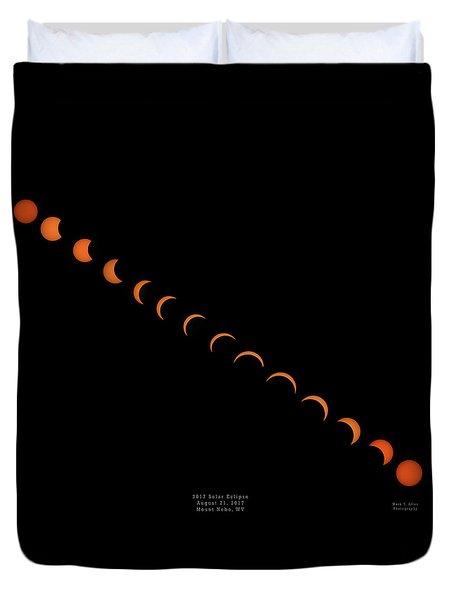 2017 Solar Eclipse Duvet Cover