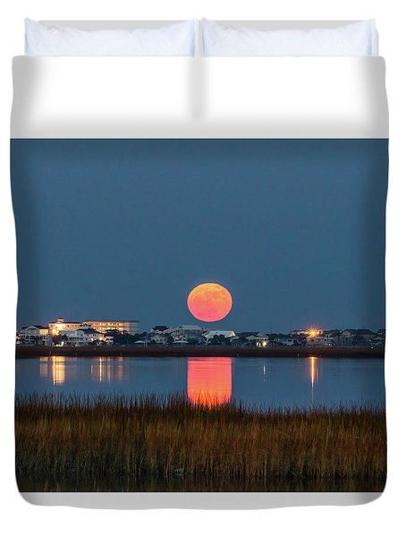 2017 Supermoon Duvet Cover