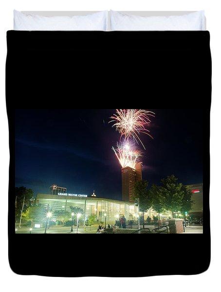 2017 Three Rivers Festival Aep Fireworks Duvet Cover
