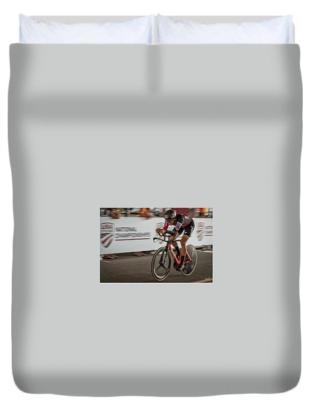 2017 Time Trial Champion Duvet Cover