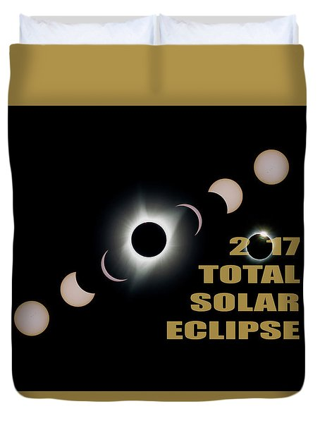 2017 Total Solar Eclipse Phases Duvet Cover