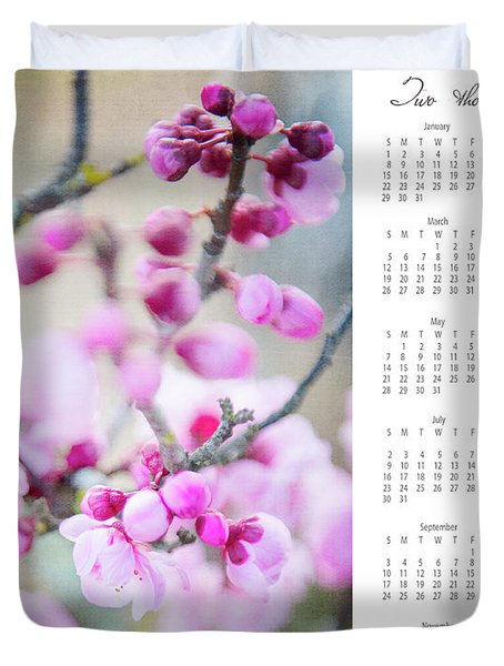 Duvet Cover featuring the photograph 2017 Wall Calendar Cherry Blossoms by Ivy Ho