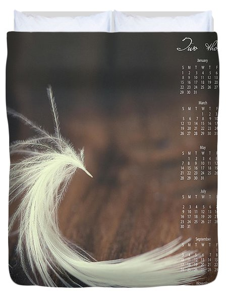 Duvet Cover featuring the photograph 2017 Wall Calendar Feather by Ivy Ho