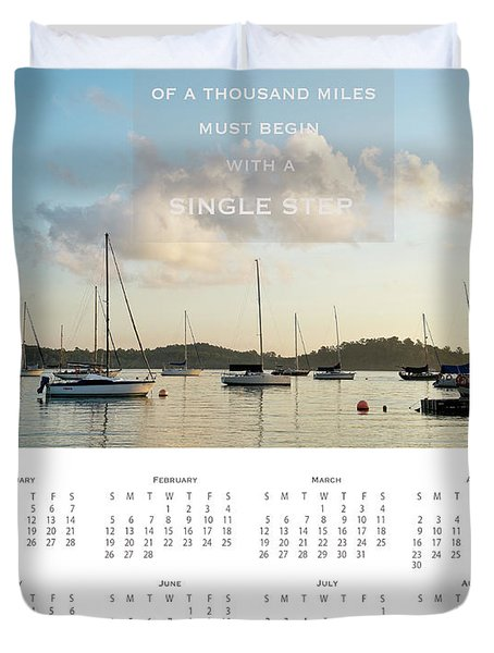 Duvet Cover featuring the photograph 2017 Wall Calendar Journey by Ivy Ho