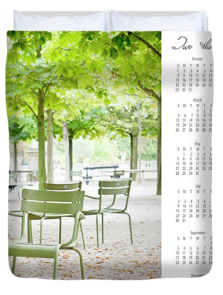 Duvet Cover featuring the photograph 2017 Wall Calendar Paris by Ivy Ho