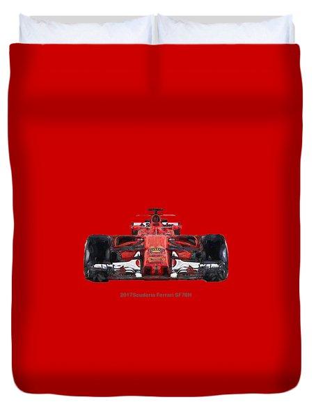 2017scuderia Ferrari Sf70h Duvet Cover