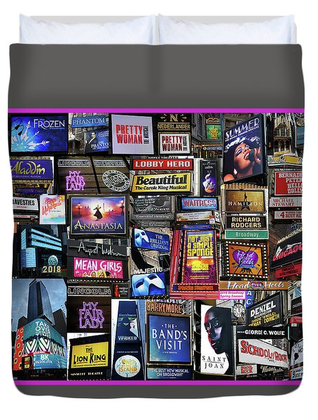 2018 Broadway Spring Collage Duvet Cover
