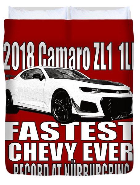 2018 Camaro Zl1 1le Duvet Cover