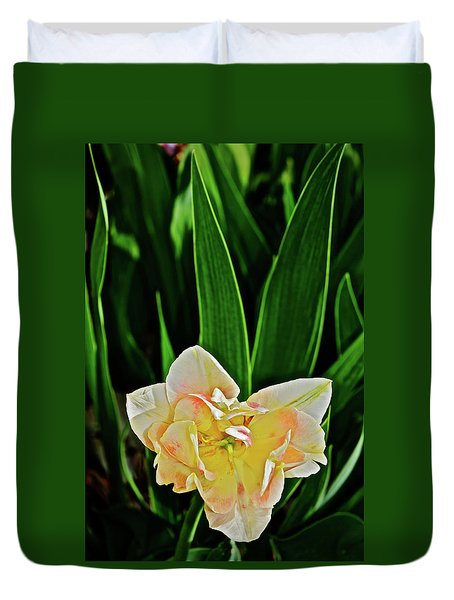 Duvet Cover featuring the photograph 2018 Vernon Tulips 4 by Janis Nussbaum Senungetuk