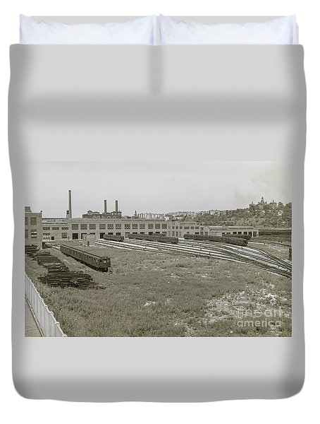 207th Street Railyards Duvet Cover